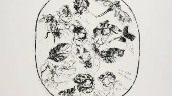 Walter Piacesi - Rose e libellula, 1970 (detail)