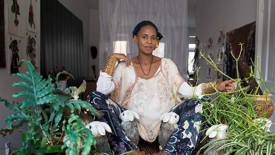Wangechi Mutu portrait, 2012 - Photo by Kathryn Parker Almanas