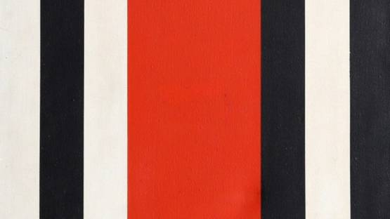 Warner Friedman - Red, Black and White Stripes, ca 1965 (detail)