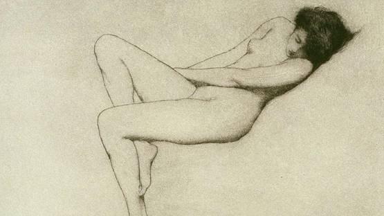 Warren B. Davis - Reclining Nymph - Image via famsf