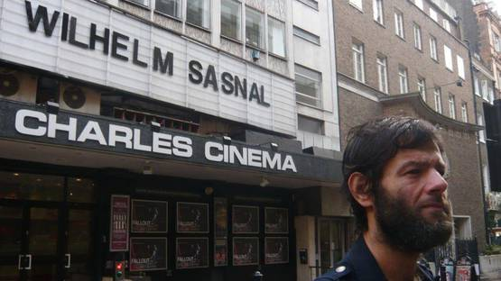 Wilhelm Sasnal outside the cinema before the Sadie Coles & Artprojx screening - image courtesy of David Gryn