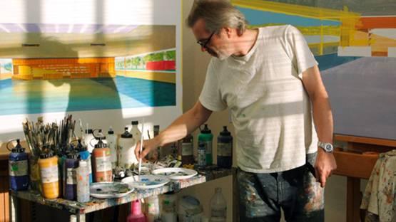 Willem van Veldhuizen in his studio, photo credits of the artist