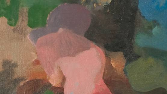William Brice - Figure and Landscape Sudy III (detail), 1956, Oil on canvas, photo via newyorkartcollector blogspot rs