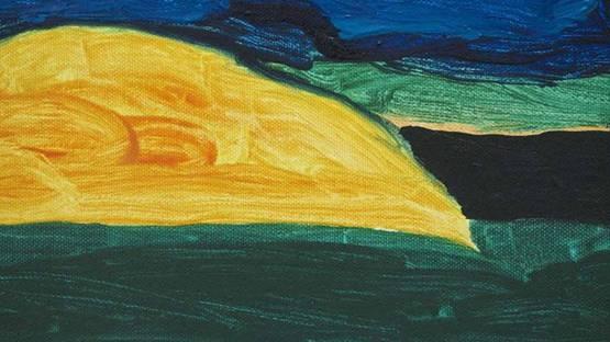 William Crozier - Island - Roaring Water Bay (detail), oil on canvas - photo via hammondgallery
