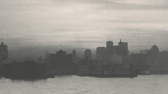 William Dassonville - San Francisco Waterfront (detail), circa 1925 - image ourtesy of Scott Nicholson Gallery
