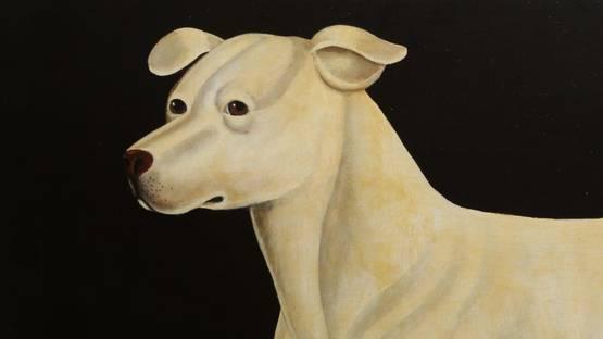 William Skilling - Irish Hound Dog, ca. 1940 (detail)
