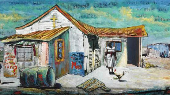 Willie Bester - What Happened in the Western Cape (detail), photo via sothebys