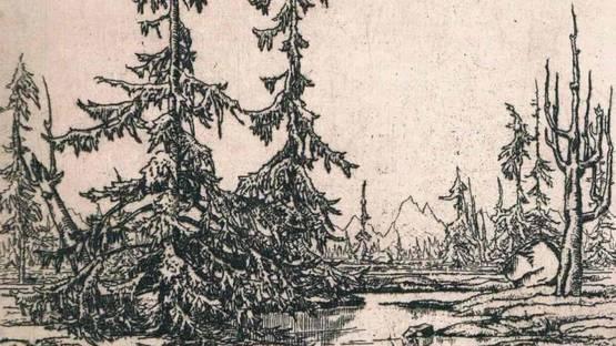Wolfgang Zeller - Landschaft, 1922 (detail)