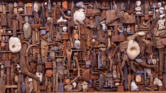 Yolande Fievre - Untitled Wood Composition - Image via pinimg