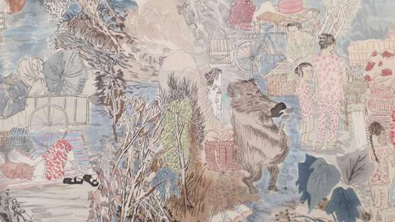 Yun-Fei Ji - Three Gorges Dam Migration (detail), 2009