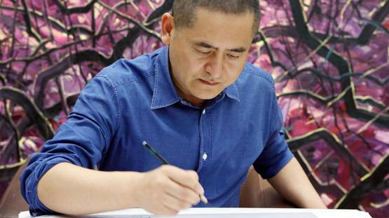 Zeng Fanzhi - portrait - photo via scmp