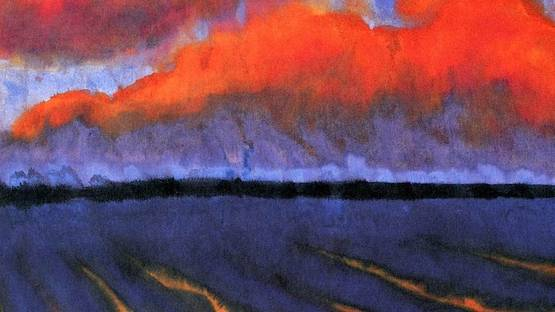 Emil Nolde - Evening Landscape North Frisia