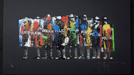 k-guy - paint bomb policia, detail