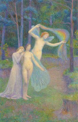 Hippolyte Petitjean-La source, femmes dans la foret-1897.jpg
