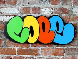 Cope2 - Classic wood cut (Colors), 2013
