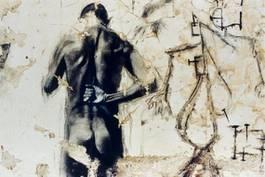 Ernest Pignon-Ernest - Artaud, Hopital d'Ivry, 1997