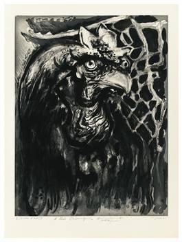 Ernest Pignon-Ernest - Battage a Filiacciano, Grand Coq, 1960