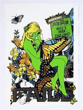 Faile - Butterfly Girl Green, 2004
