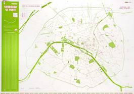 Invader - Carte de l'invasion de Paris, 2011
