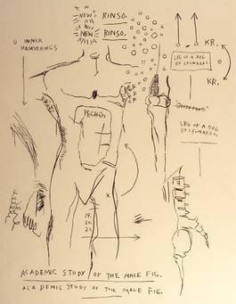 Jean-Michel Basquiat - Academic Study of the Male Figure, 1983