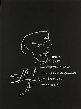 Jean-Michel Basquiat - Anatomy (Hyoid Bone), 1982, artcurial lot 639