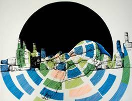 Karl Addison - Bottles, 2014