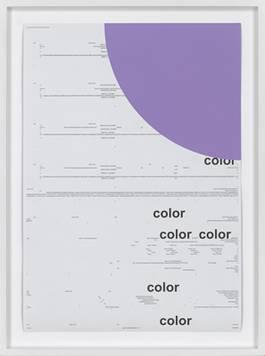 Michael Riedel - Untitled (color) light purple, 2013