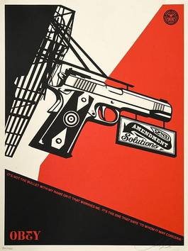 Shepard Fairey - 2nd Amendment Solutions, 2011