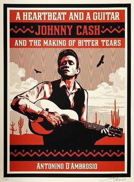 Shepard Fairey - A Heartbeat and a Guitar Johnny Cash (Red Edition), 2009