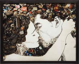 Vik Muniz - The Kiss (from Pictures of Junk), 2010