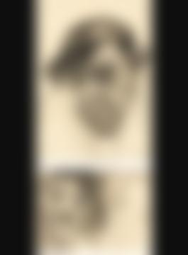 Albert Birkle-Portrait Eines Schauspielers I (Portrait Of An Actor I) - Recto Studie (Study) - Verso-1923.jpg