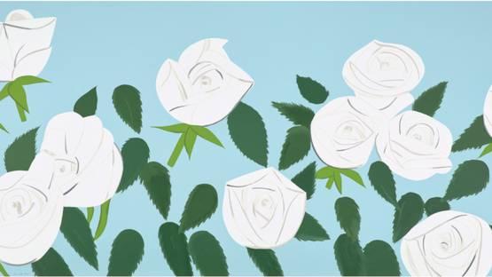 Alex Katz - White Roses, 2014 (detail)