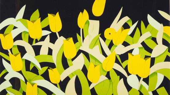 Alex Katz - Yellow Tulips, 2014 (Detail)