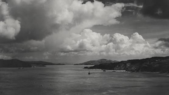 Ansel Adams - The Golden Gate Before The Bridge, San Francisco, California (detail)