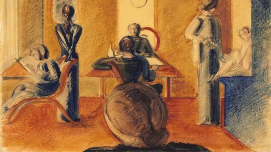 Oskar Schlemmer - Raum Mit Sieben Figuren, 1937 (Detail)