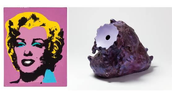 Sturtevant - Study for Warhol's Marilyn, 1965; Ken Price - The Blush, 1994