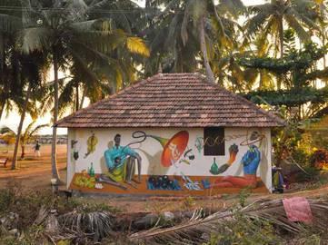 Aec Interesni Kazki - Seller of Black Holes, Varkala, India, 2015, photo credits of the artist