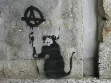 Banksy - Anarchy Rat, Berlin 2003