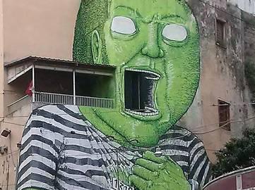 Blu - Green Giant - Napoli, Italy, 2016 (detail)