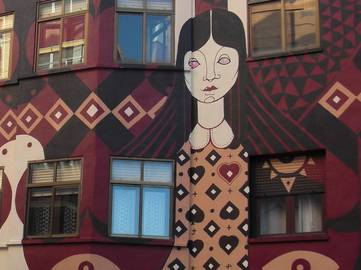 El Dimitry - mural for Bar Universonoro (detail), Palencia, Spain, 2014, photo courtesy of the artist