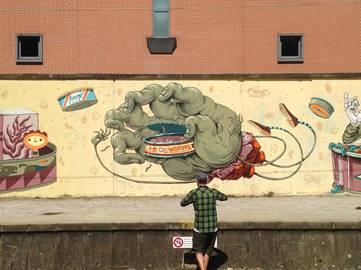 Frau Isa on Kosmopolite Art Tour - Earworm, Louvainlaneuve, Belgium, 2015