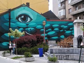 Nikola Mihajlovic - Mural in Uzice, 2016 - image courtesy of the artist