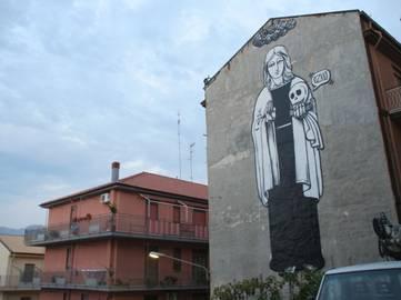 OZMO - Probably the biggest S. Rosalia in the world - Campofelice di Roccella, Palermo, 2008