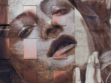 RONE - Mural in Nashwille, Tennessee (detail)