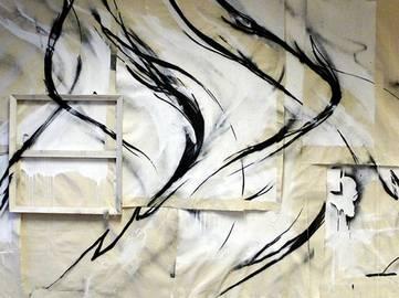 SheOne - INSTALLATION (detail), Bristol, England, 2013 - installation view at BlackAtelier exhibition
