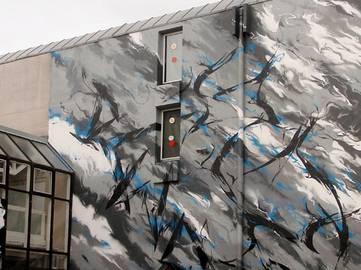 SheOne - MURAL for Cultural Centre Du Art (detail), Niort, France, 2011