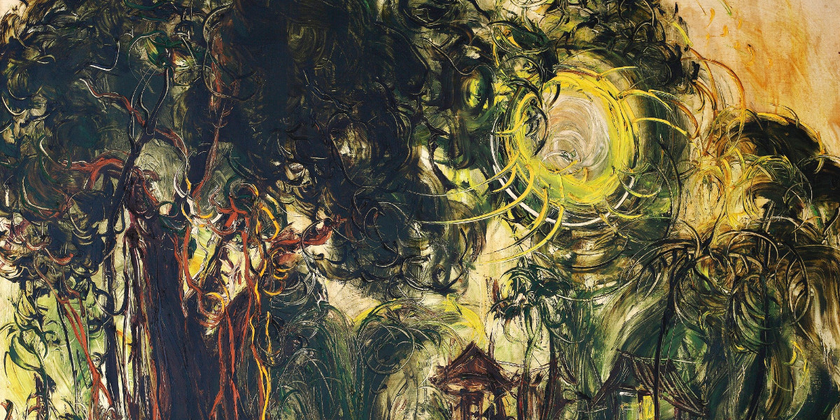 Affandi - Market Under The Banyan Tree, 1970 (Detail)