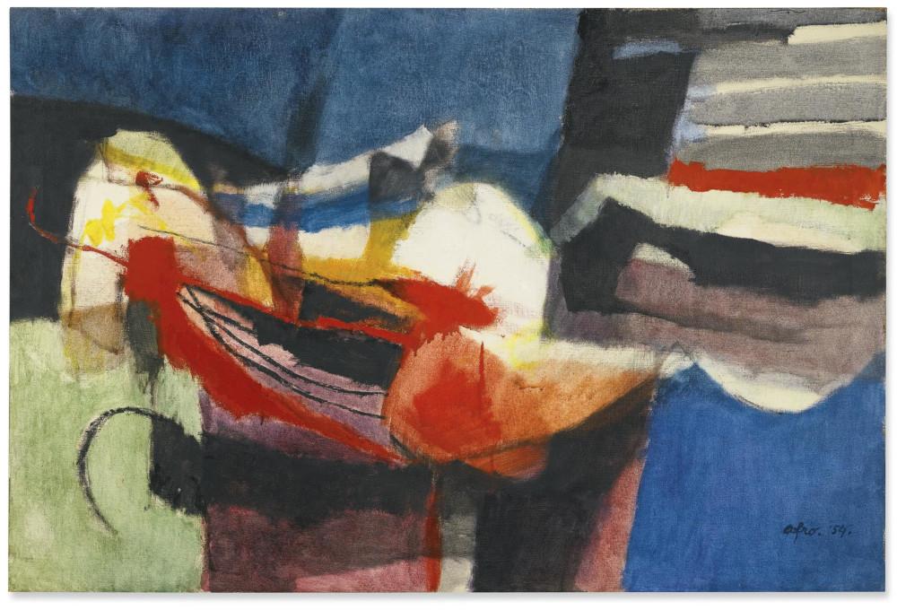 Afro Basaldella - La Persiana 2, 1954 (Detail)