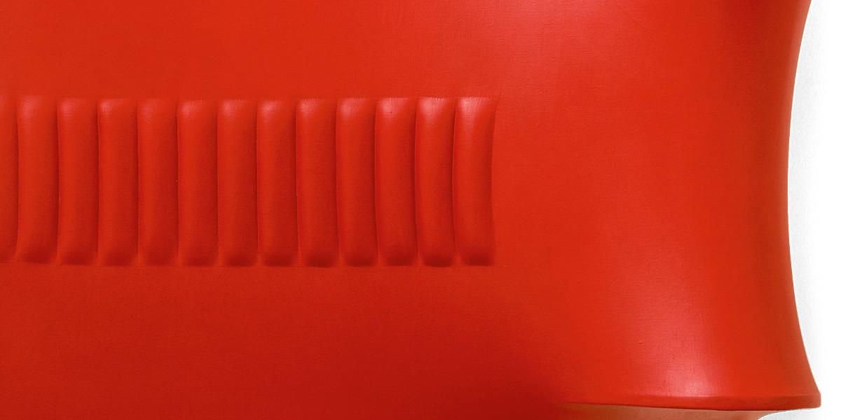 Agostino Bonalumi - Rosso, 1965