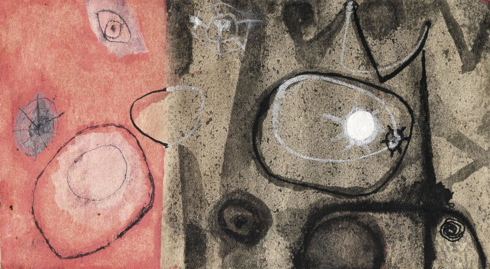 Alberto Burri - Composizione, 1948 (Detail)
